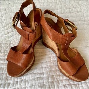 Franco Sarto Wedge Sandals Size 8.5